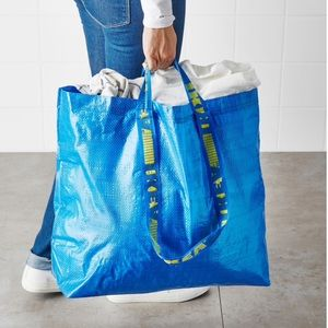 Two Medium Double Handle Tote Bags